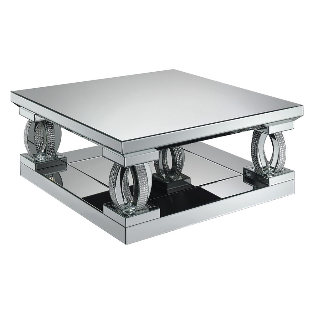 Terrific Silver Orchid Ipsen Silver Mirror Square Coffee Table 39 75 X 39 75 X 18 50 Pabps2019 Chair Design Images Pabps2019Com