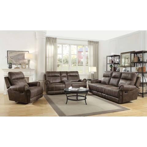 Copper Grove Aalst Brown 3-piece Living Room Set