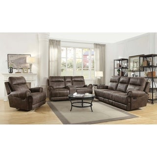 Copper Grove Aalst Brown 3-piece Living Room Set