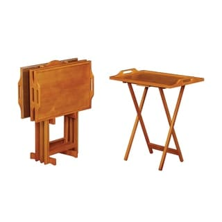 "Porch & Den Mantle 5-piece Tray Table Set - 23.75"" x 15.75"" x 29.75"""