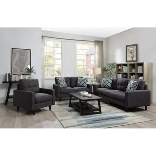 Carson Carrington Eikesdalen Grey 2-piece Living Room Set