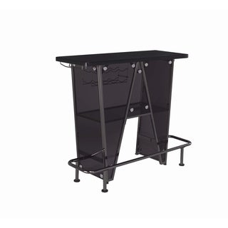 Dark Charcoal and Black Nickel 1-tier Bar Unit
