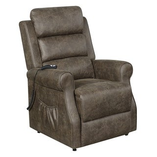 Copper Grove Beaumont Brown Upholstered Power-lift Recliner