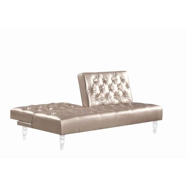 Admirable Shop Silver Orchid Nielson Rose Gold Upholstered Sofa Bed Caraccident5 Cool Chair Designs And Ideas Caraccident5Info