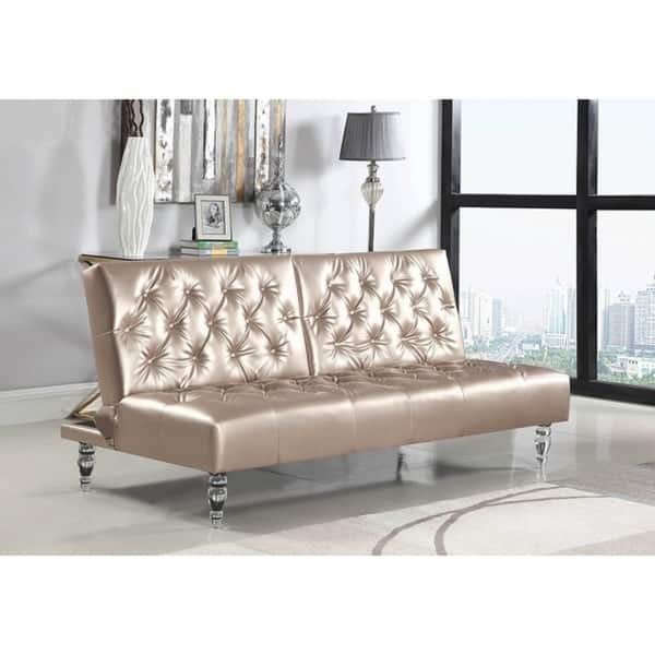 Outstanding Shop Silver Orchid Nielson Rose Gold Upholstered Sofa Bed Caraccident5 Cool Chair Designs And Ideas Caraccident5Info