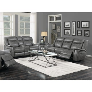 Conrad Cool Grey 2-piece Living Room Set