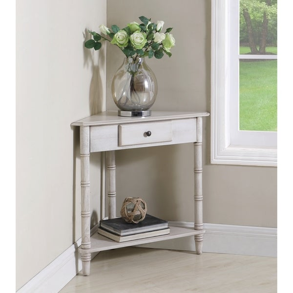 Shop Copper Grove Chatelet 1-drawer Corner Accent Table