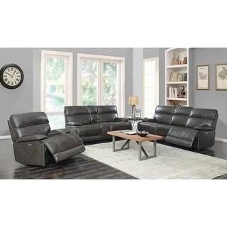 Copper Grove Arlon Charcoal 3-piece Power Recline Living Room Set