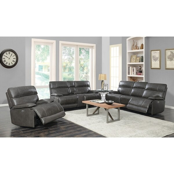 Copper Grove Arlon Charcoal 3-piece Power Recline Living Room Set - N/A