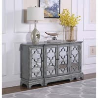 Grey 4-door Accent Cabinet