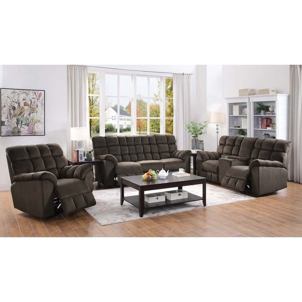 Atmore Chocolate 2-piece Living Room Set ( Sofa and Loveseat)