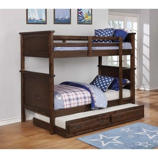 Dalton Country Brown Twin over Twin Bunk Bed