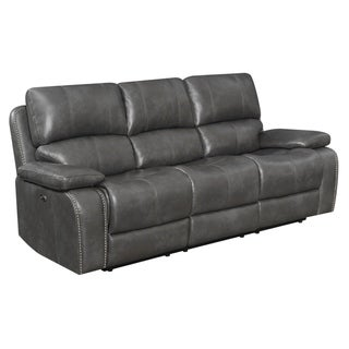 """Copper Grove Antoing Charcoal Power Recline Sofa - 88"""" x 39"""" x 40"""""""