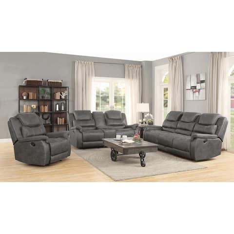 "Wyatt Grey Glider Loveseat with Console - 75"" x 40"" x 42"""