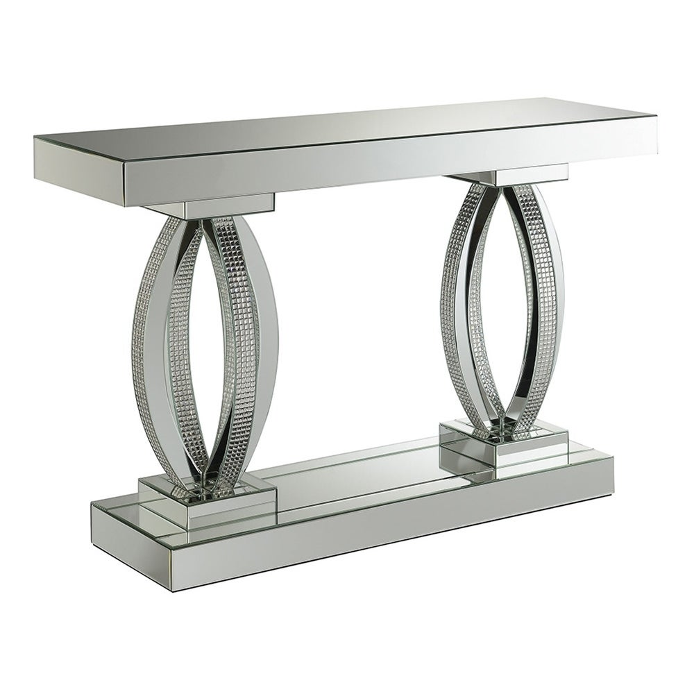 Silver Orchid Ipsen Rectangular Sofa Table With Shelf 47 25 X 14 31 50