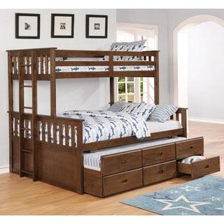Copper Grove Kolomyia Distressed Walnut 3-drawer Bunk Bed