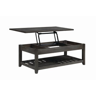 "Carbon Loft Soule Grey Lift Top Coffee Table with Storage Cavities - 47.75"" x 23.75"" x 18"""