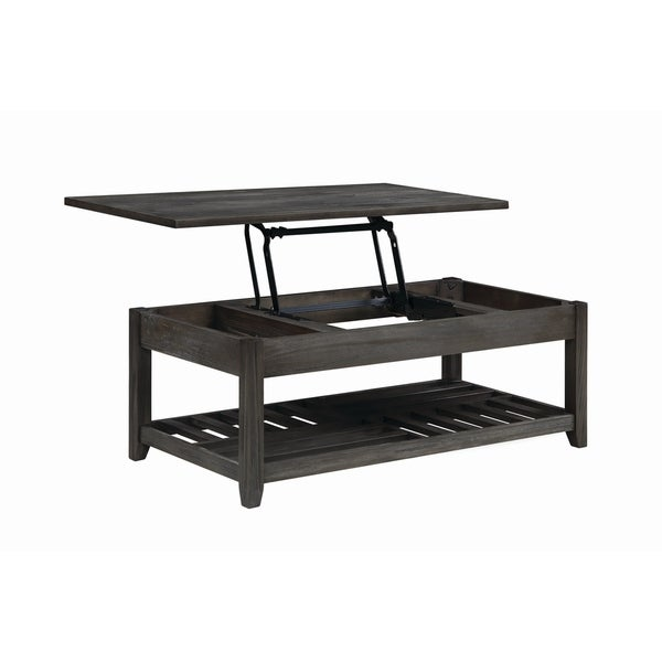 """Carbon Loft Soule Grey Lift Top Coffee Table with Storage Cavities - 47.75"""" x 23.75"""" x 18"""""""