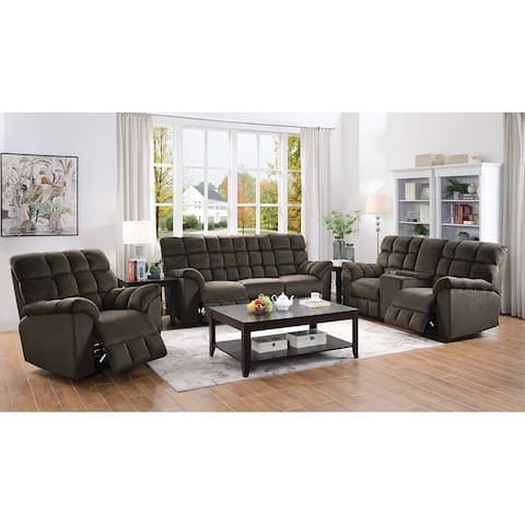 Atmore Chocolate Motion Loveseat with Console