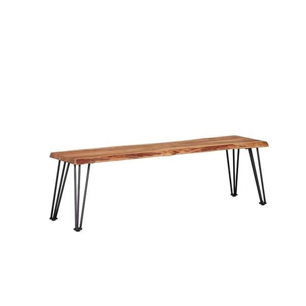Loft Bench Seat Natural: Shop Carbon Loft Meyers Natural Acacia And Gunmetal Bench