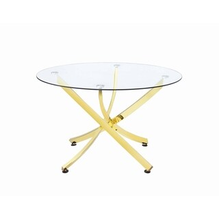 Chanel Brass and Clear Round Dining Table