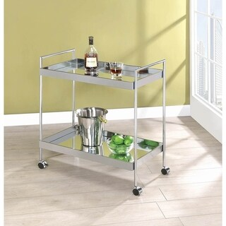 Mirror and Chrome 2-tier Serving Cart