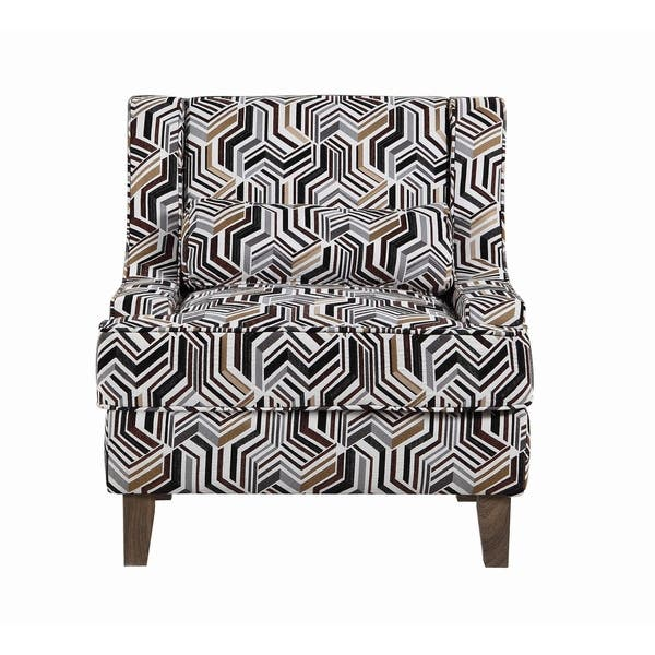 Peachy Shop Burbank Brown Geometric Pattern Accent Chair Free Gmtry Best Dining Table And Chair Ideas Images Gmtryco