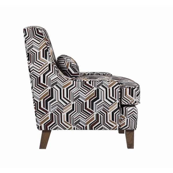 Stupendous Shop Burbank Brown Geometric Pattern Accent Chair Free Gmtry Best Dining Table And Chair Ideas Images Gmtryco