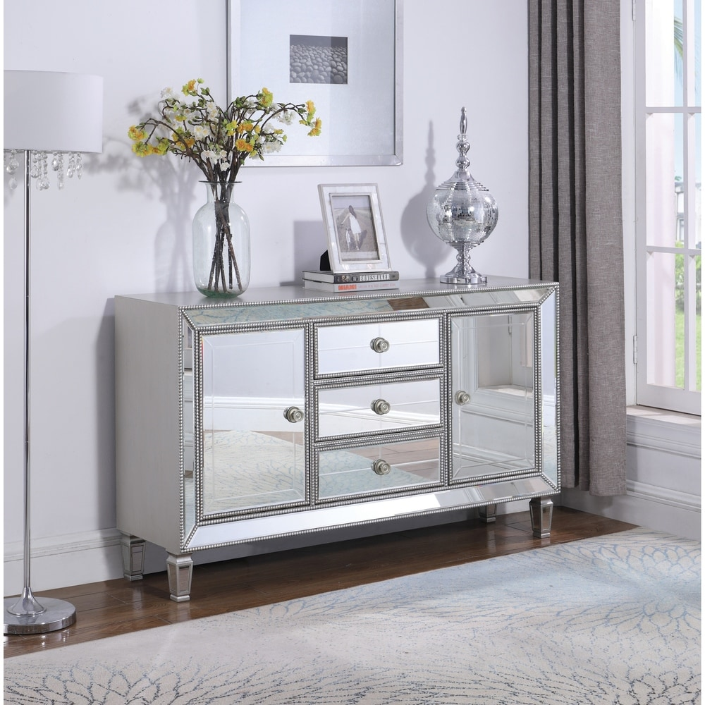 Coaster Champagne Silver 3-drawer Accent Cabinet (Champagne Silver)