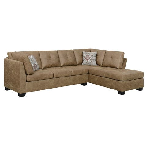 Buy Microfiber Sectional Sofas Online at Overstock   Our ...