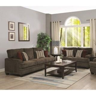 Copper Grove Shchuchin Brown 2-piece Living Room Set