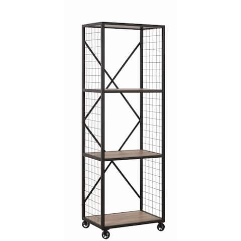 Weathered Taupe 3-tier Bookcase