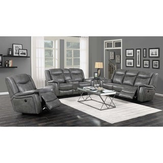Copper Grove Beauraing Grey 2-piece Power Recline Living Room Set