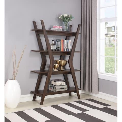 "Dark Walnut 4-tier Bookcase - 47.25"" x 14.25"" x 70.75"""
