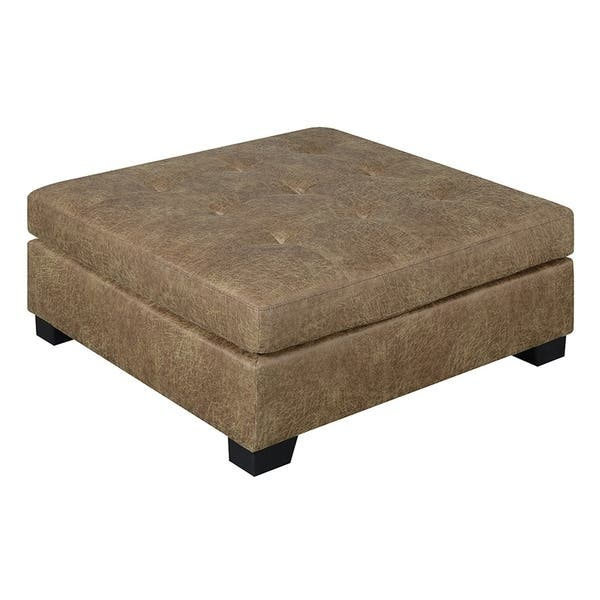 Excellent Copper Grove Skidel Brown Square Ottoman Inzonedesignstudio Interior Chair Design Inzonedesignstudiocom