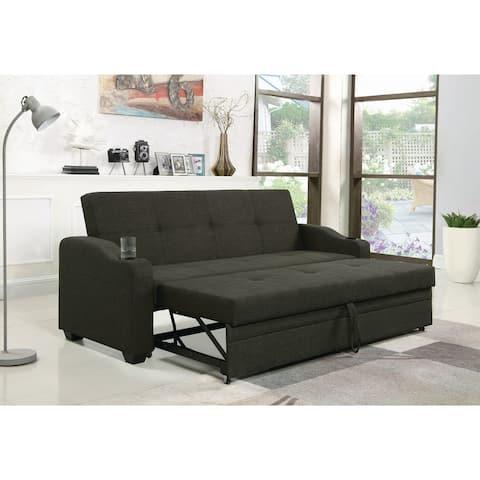 "Charcoal Grey Upholstered Sleeper Sofa Bed - 82.50"" x 32"" x 34.75"""