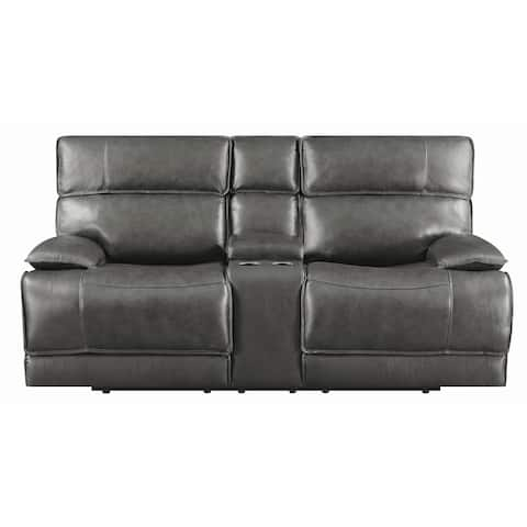 Stanford Charcoal Power Recline with Power Headrest Loveseat