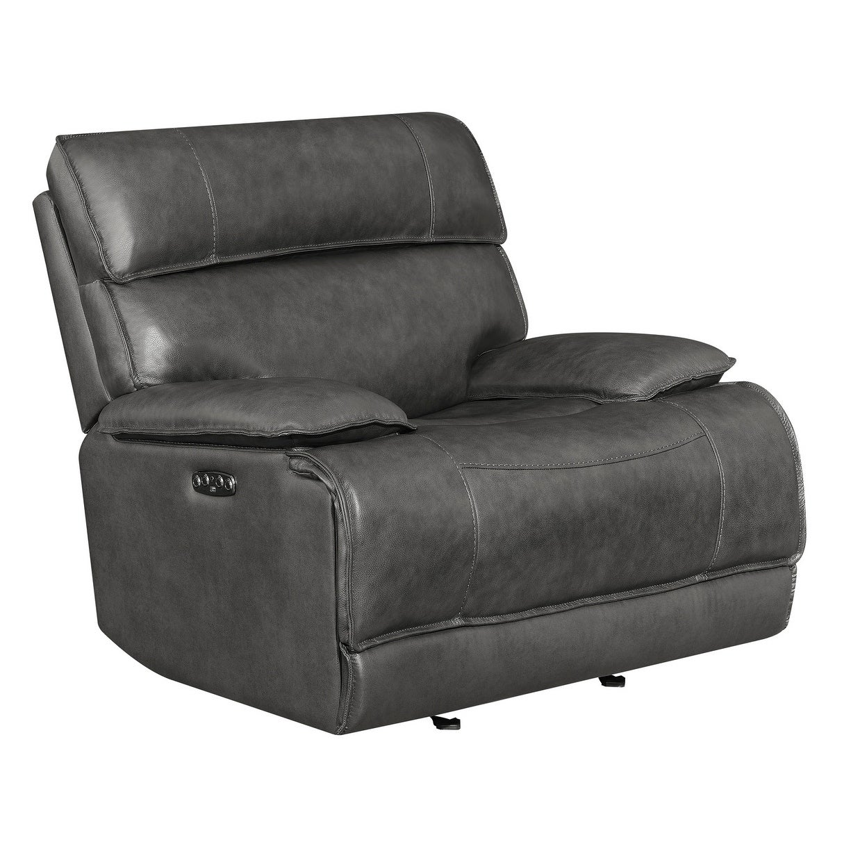 Groovy Stanford Charcoal Power Glider Recliner With Power Headrest Alphanode Cool Chair Designs And Ideas Alphanodeonline