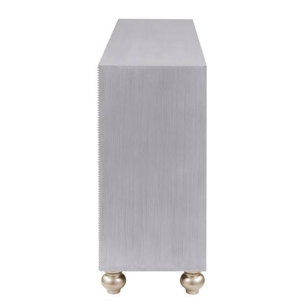 Silver Orchid Corda Metallic 2 Door Tv Console On