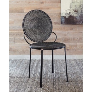 Black Open Back Accent Chairs (Set of 2)