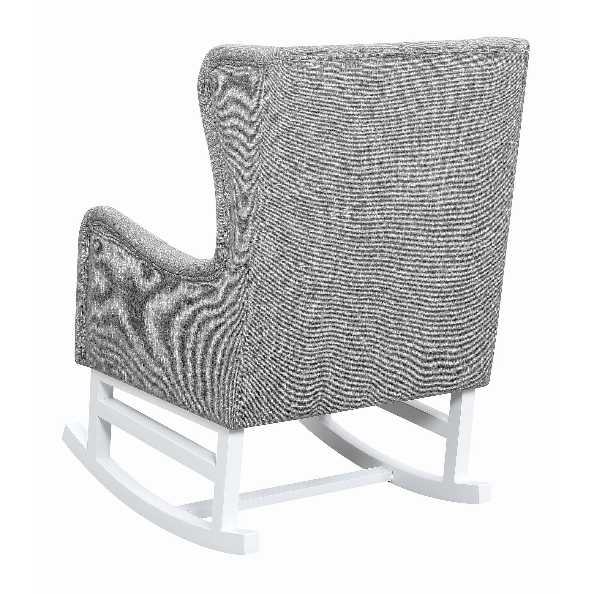 Coaster Natalia Upholstered Rocking Chair Grey