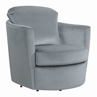 Shop Madison Park Morton Grey Fabric Upholstered Swivel