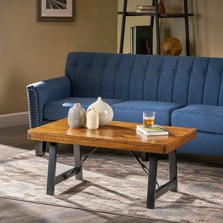 Linnett Solid Wood Farmhouse Coffee Table by Christopher Knight Home