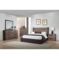 Carbon Loft Corsaut Weathered Oak and Rustic Coffee Wood Bed