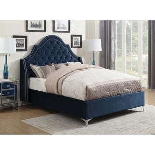 Shayne Blue Upholstered Bed