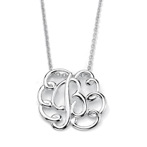 Sterling Silver Personalized Swirl ID Pendant (25mm)