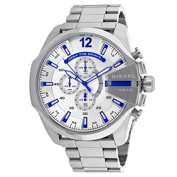 Shop Diesel Men s Mega Chief DZ4477 Watch - N A - Free Shipping Today -  Overstock - 25860513 ac2248ef086