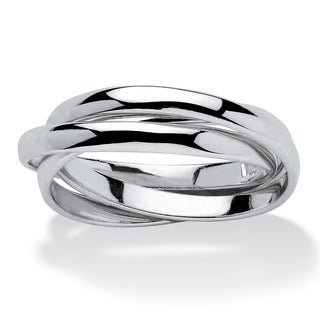 Sterling Silver Tri Band Rolling Ring