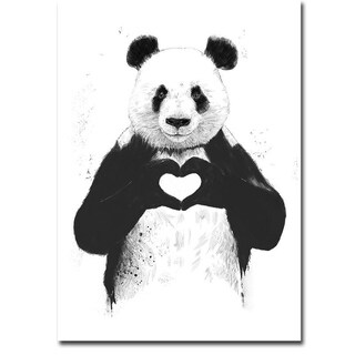All You Need is Love by Balazs Solti Gallery Wrapped Canvas Giclee Art (21 in x 15 in, Ready to Hang)