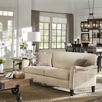 Tilda Beige Tight Back Sofa with English Arms by iNSPIRE Q Classic